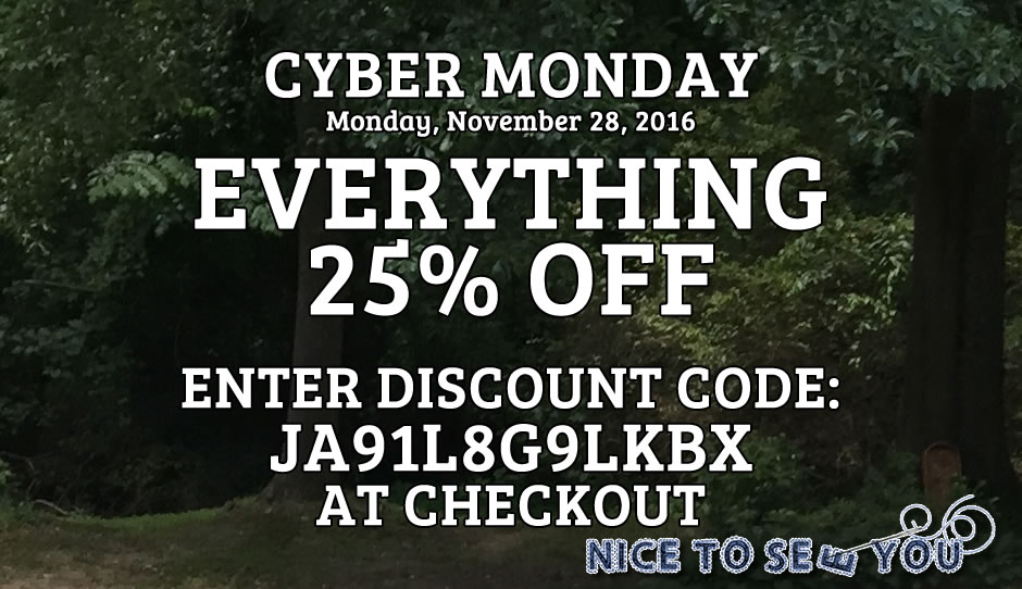 25% off on Cyber Monday, November 28, 2016!
